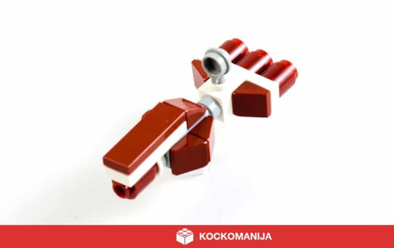 LEGO mikro model vesoljske ladje Radiant VII