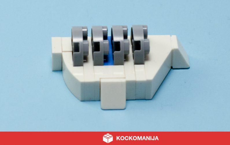 LEGO mikro model legendarnega Shield generatorja s Hotha