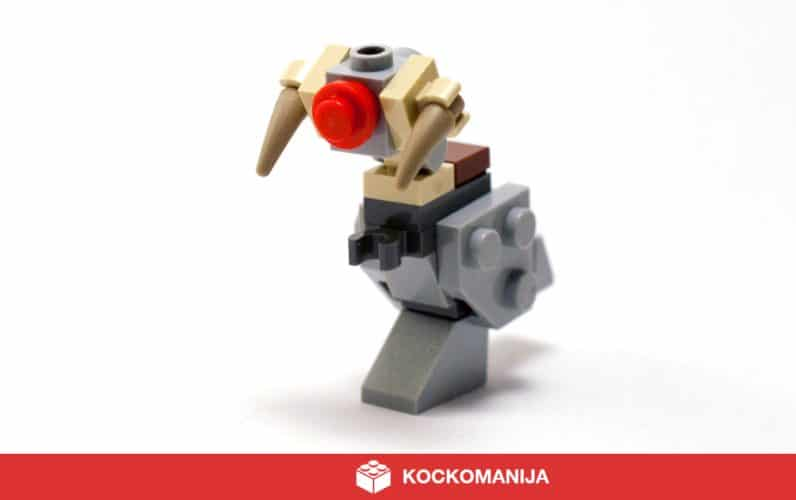 Posrečen LEGO Taumtaum z rdečim noskom kot Rudolf