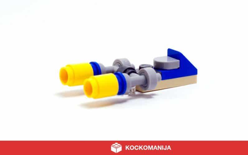 Čudovit mikro model LEGO Podracerja, ki ga je vozil Anakin Skywalker