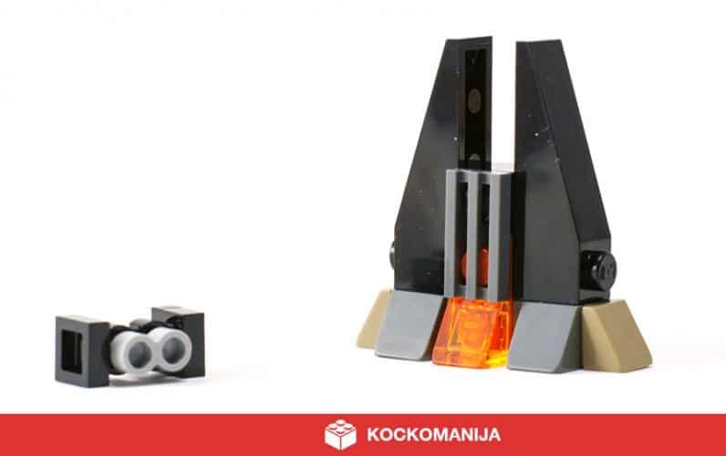 LEGO mikro model Vaderjeve trdnjave z mini mini mikro Tie Fighterjem