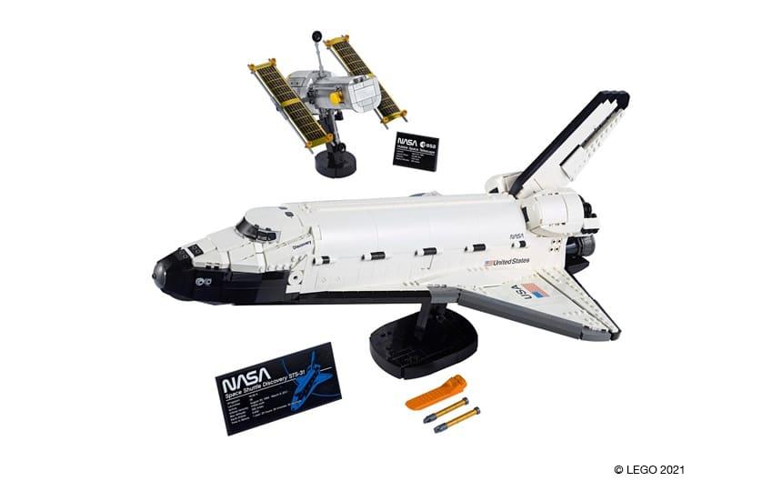 10283 NASA Space Shuttle Discovery in Hubblov teleskop iz LEGO kock