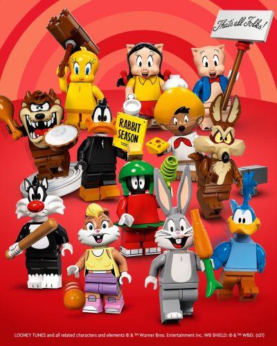 Dvanajst LEGO minifigur iz serije Looney Toons.