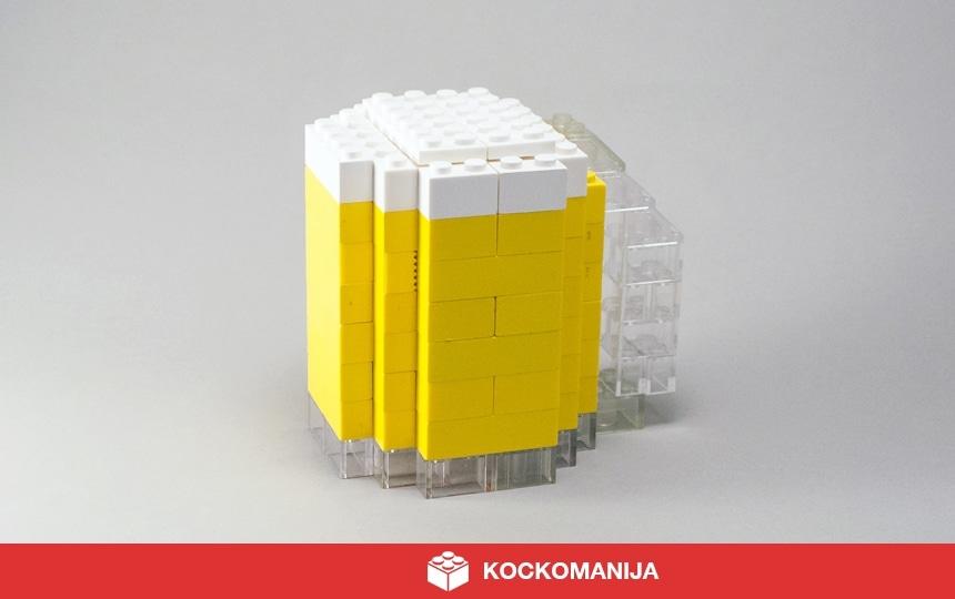 Kozarec piva iz LEGO kock