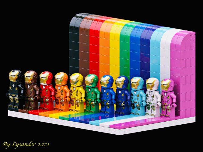 LEGO Ironman različnih barv