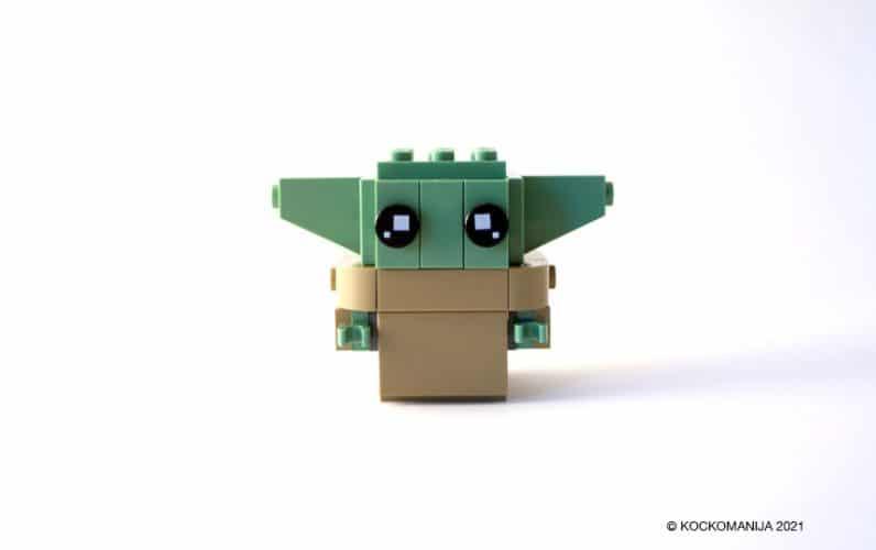 LEGO Brickheadz Baby Yoda z gor obrnjenimi ušeski