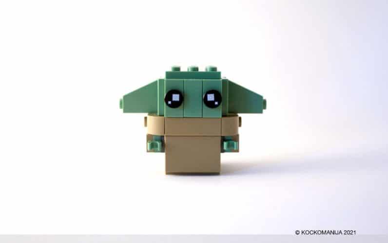 LEGO Brickheadz Baby Yoda z dol obrnjenimi ušeski