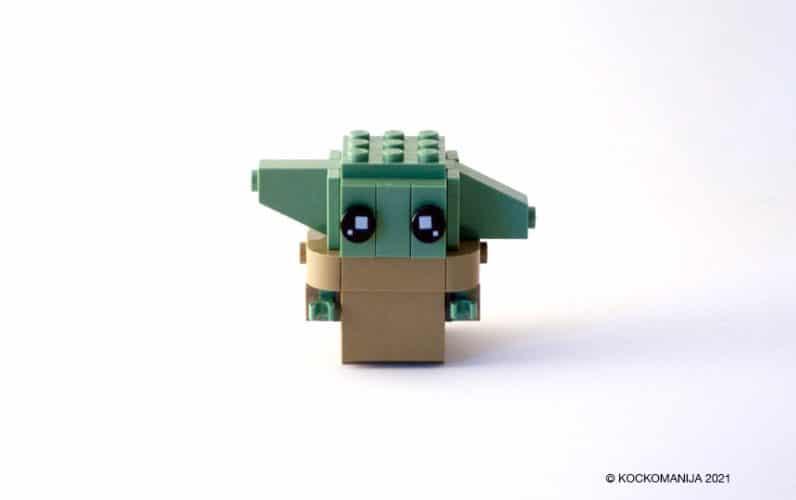 LEGO Brickheadz Baby Yoda z ušeski gor in dol