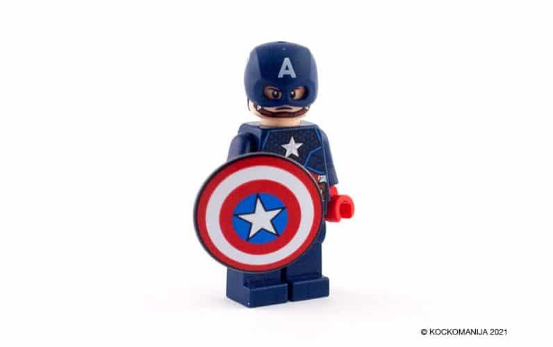 LEGO 76168 Stotnik Amerika robotski oklep minifigura kapitan stotnik amerika s ščitom in čelado