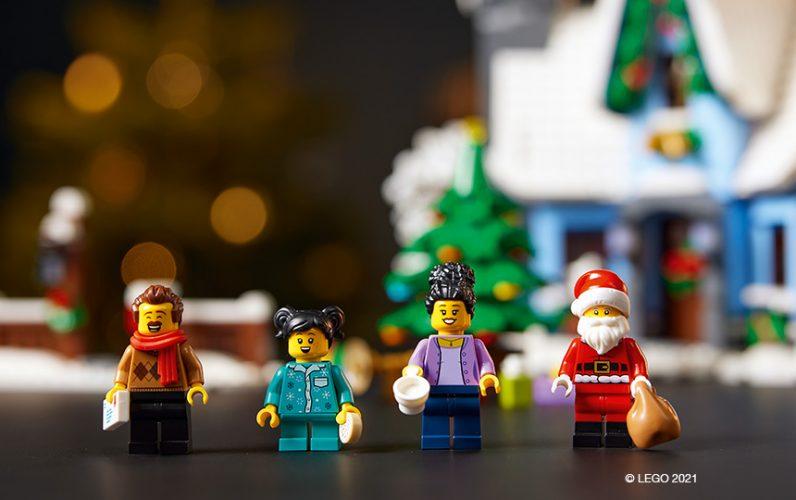 LEGO 10293-Bozickov-obisk-Minifigure-oce-mama-otrok-in-bozicek