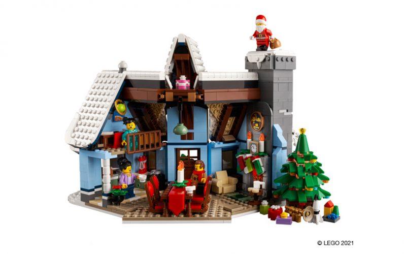 LEGO 10293 Božičkov obisk notranjost hišice iz kock